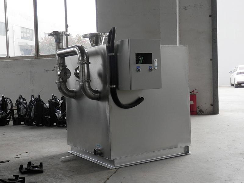 唐山火锅店用隔油提升一体化设备cad图